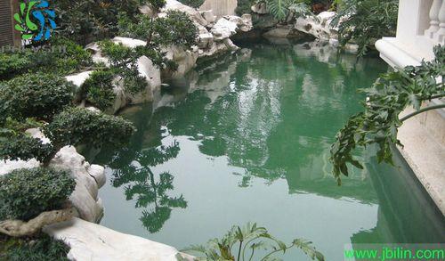[供方]家庭鱼池设计建造工程,风水鱼池建造