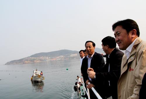 辽宁大连孙广田副市长到獐子岛渔业视察调研