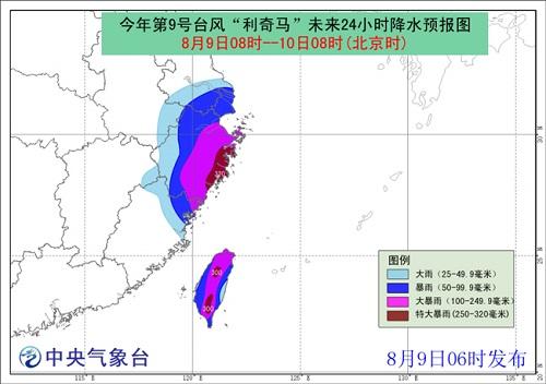 2019年8月9日台风红色预警