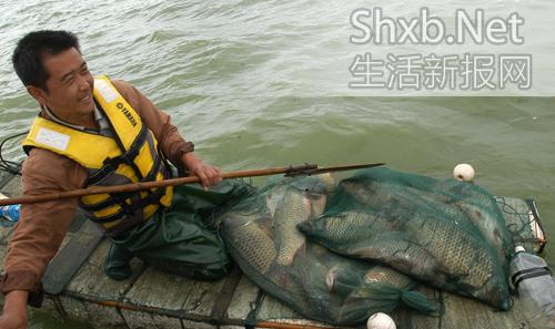 滇池开湖第一天 渔民感觉鱼少了