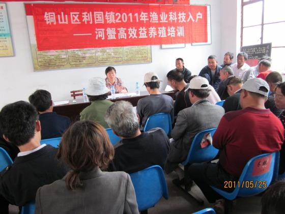 江苏徐州市铜山区利国镇举办河蟹高效养殖技术