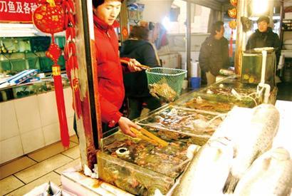 需求大捕捞量少 山东青岛市场海鲜价格一天一涨