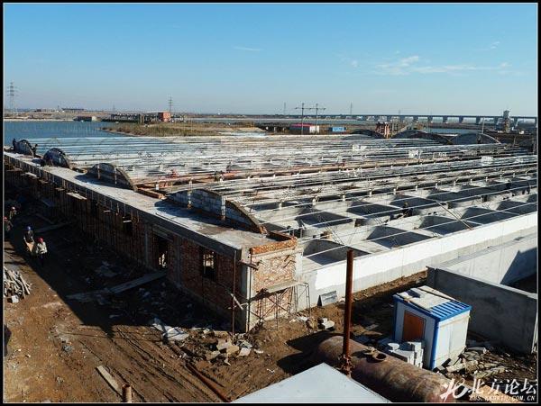 天津市大港海升现代设施渔业养殖场建设现场图片