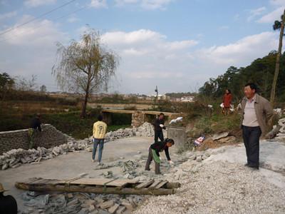 渔业站组织建造泥鳅繁育池