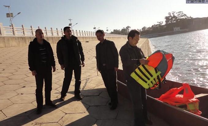 云南玉溪市水产站到红塔区进行渔业安全检查