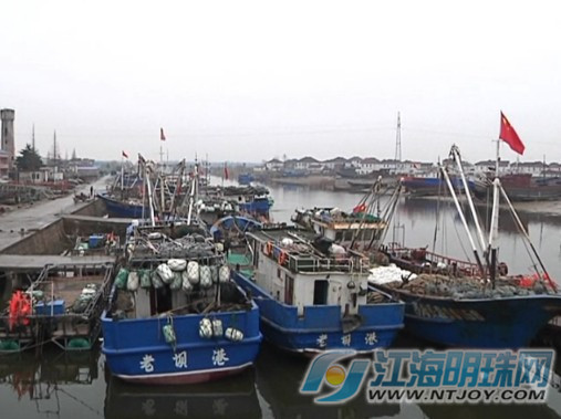 前天,记者在海安县老坝港滨海新区采访时看见,渔民们正忙着修船,织网