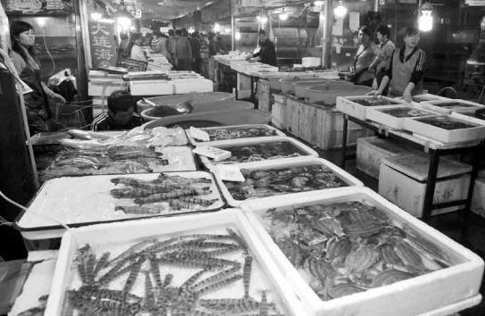 记者走访塔湾北行海鲜批发市场了解到