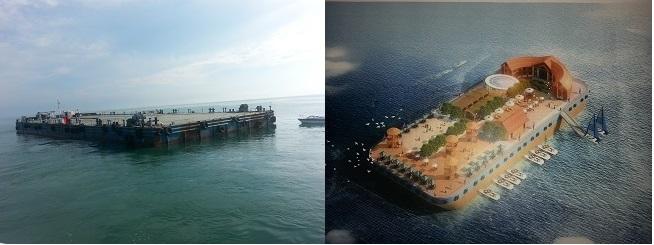 山东省最大的海上旅游平台成功入驻日照万泽丰海钓基地