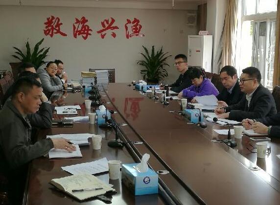 浙江舟山市海洋与渔业局罗海忠总工到台州市海洋与渔业局督查渔业增殖