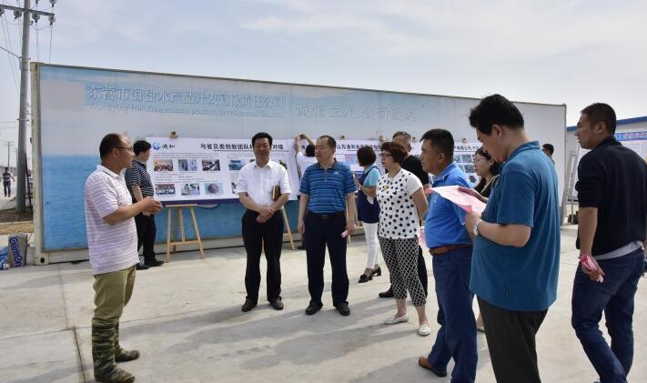 山东青岛市专家到东营市垦利区考察学习工厂化养虾