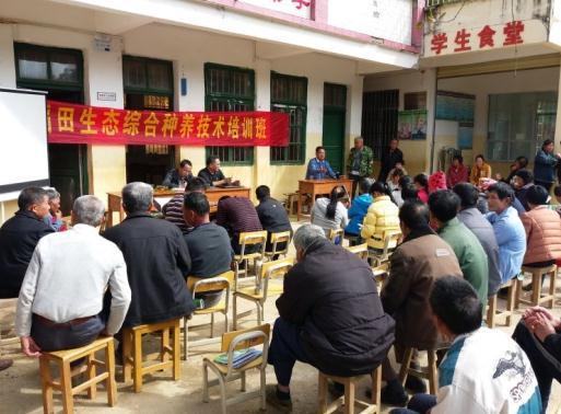 广西贺州市昭平县水产技术推广站举办稻渔生态