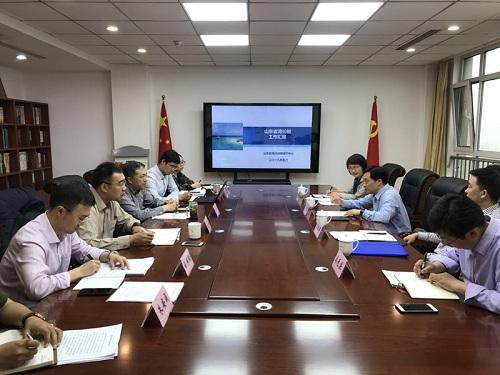 崔凤友副厅长一行到山东省海洋预报减灾中心指