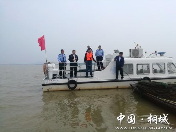 安徽省桐城市水产局加大渔政亮剑联合巡湖执法力度 巩固提升湖泊拆围成果