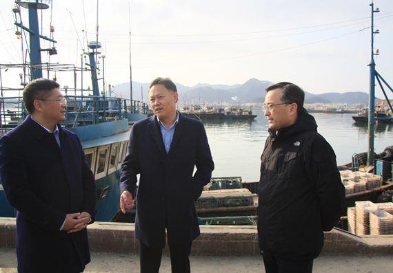 山东省青岛市政府赵发海副秘书长带队检查渔业安全生产工作