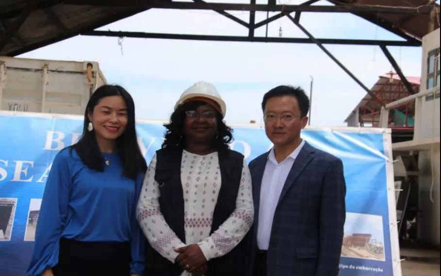 安哥拉渔业部新任部长在佑兴集团世浩渔业感叹