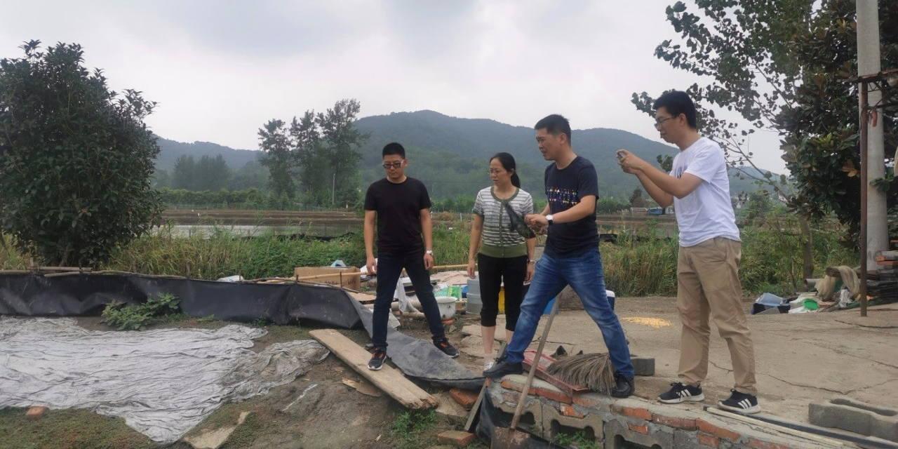 江苏省河蟹体系病害防控创新团队赴浦口指导病害防治工作