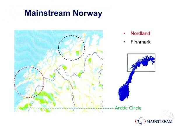 在挪威地图上的位置