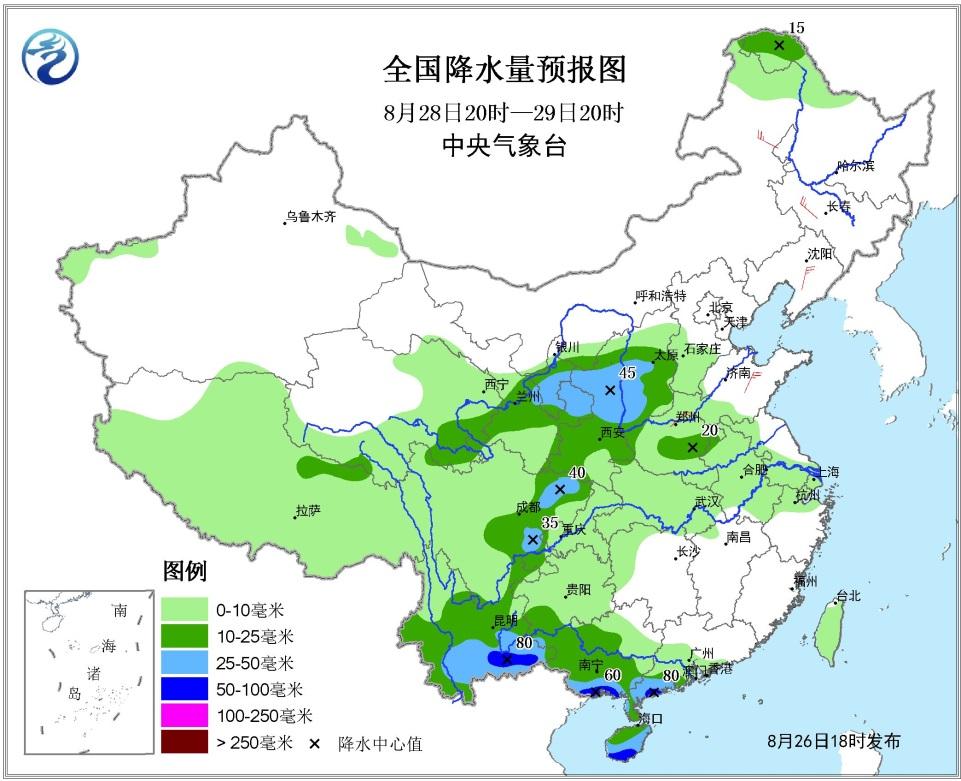 未来三天全国天气预报 台风 帕卡 将影响华南等地 西北地区东部华北等
